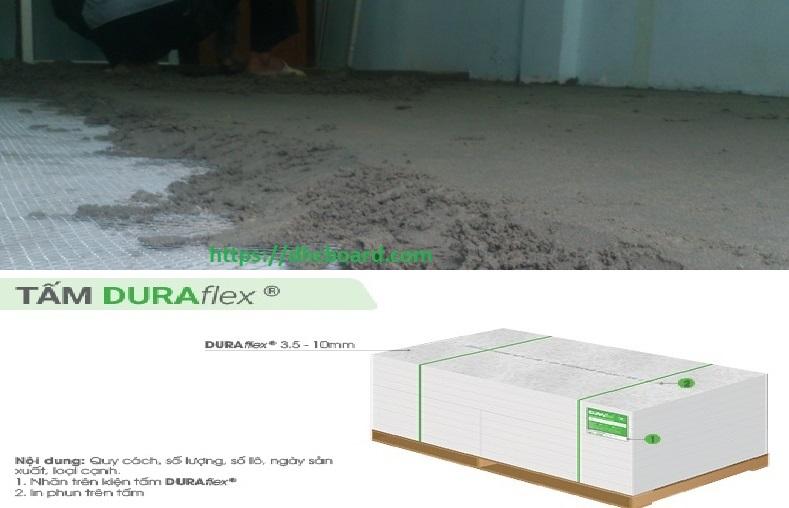 Hoàn thiện sàn bê tông nhẹ cemboard