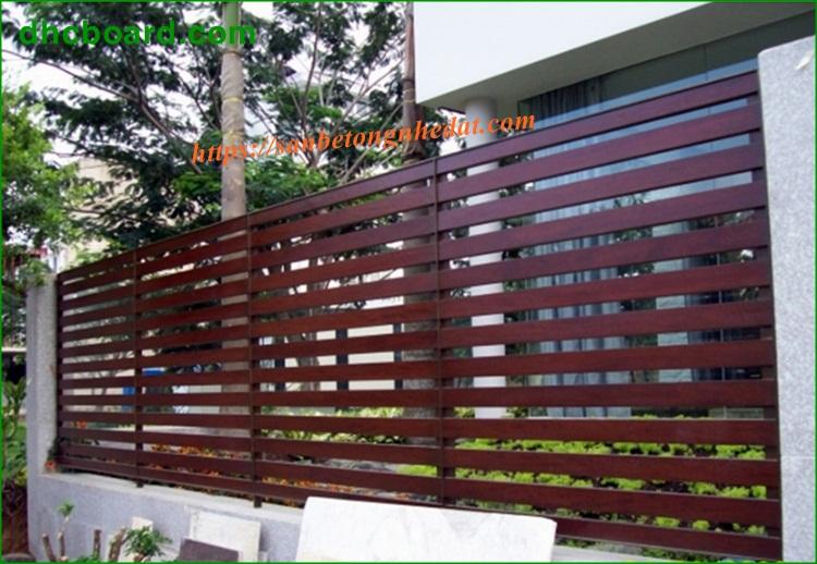 Hàng rào gỗ chịu nước điểm nhấn nổi bật ngoại thất