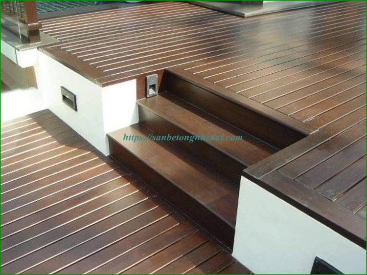 Sàn gỗ ngoài trời conwood chịu nước không cong vênh